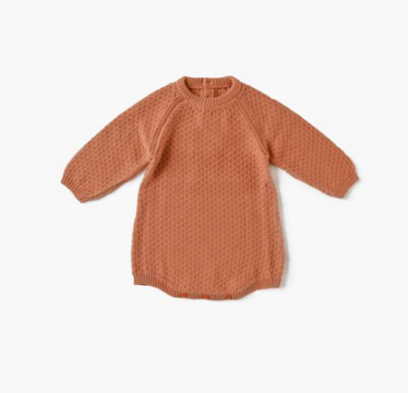 Kids Little Urban Apparel Knit Bubble Bodysuit - Sunset