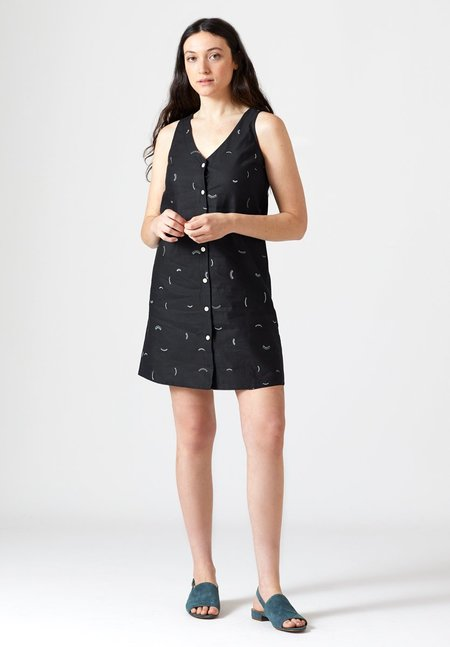 North Of West Motion Straight Dress - Black