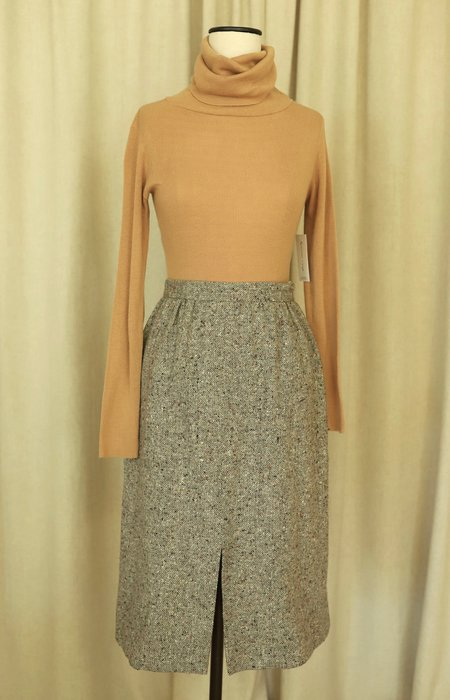 "Vintage 27"" Tweed Midi Skirt"