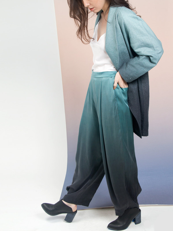 Calico x Swords-Smith x Print All Over Me Aurora Silk Relaxed Pant