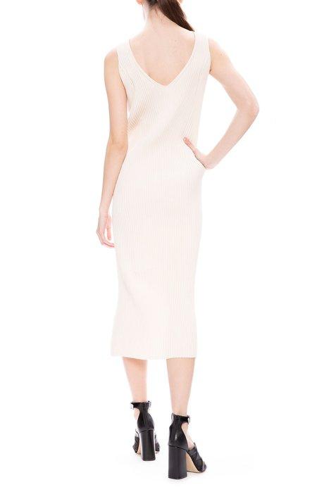 Tomorrowland Ribbed Dress - Light Beige