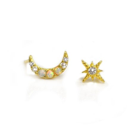 La Kaiser Opal and Diamond Celestial Dream Studs