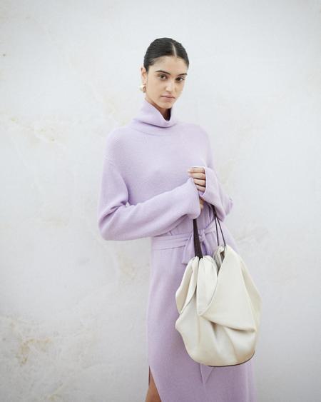 Nanushka Inda Scarf Bag - Creme