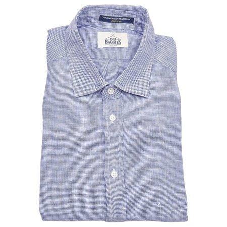 B.D. Baggies Bradford Shirt - Blue Houndstooth