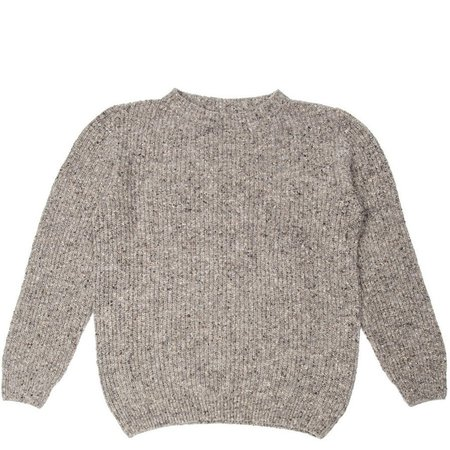Burrows and Hare Burrows & Hare Merino Donegal Wool Jumper - Grey