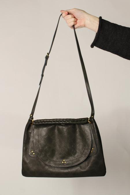 Jerome Dreyfuss Oscar Large Handbag - dark olive