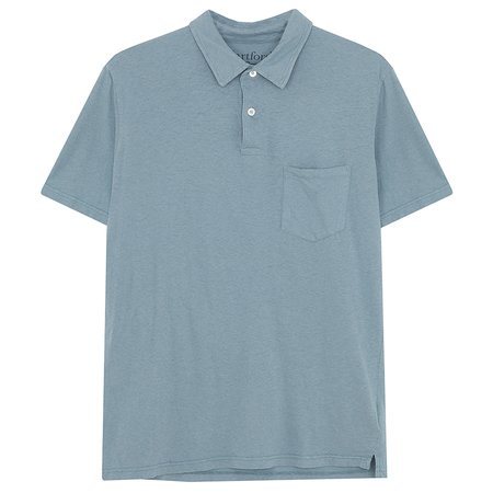 Hartford Soft Cotton/Linen Jersey Polo Shirt - Teal