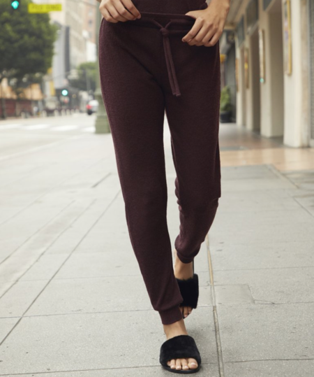 Nation Ltd Malibu Lounge Pant - AUBERGINE