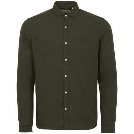 Oliver Spencer Eton Collar Shirt - Cooper Green