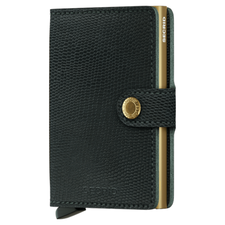 SECRID Rango RFID Miniwallet - Green/Gold
