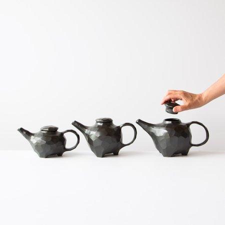Marko Savard Faceted Ceramic Teapot - BLACK