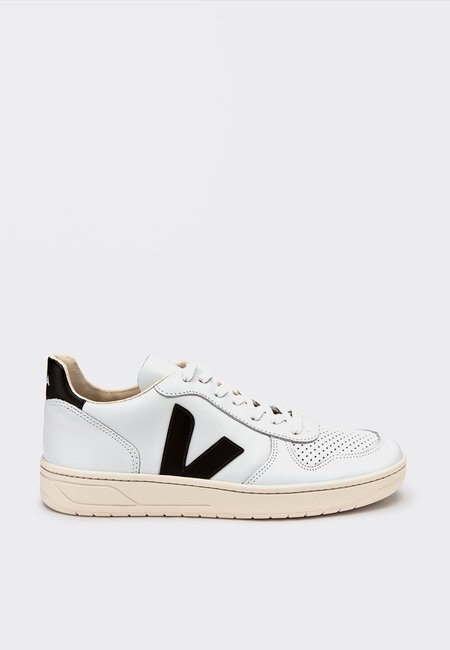 Unisex VEJA V10 Leather - Extra White/Black