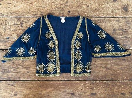 VINTAGE Haute Hippie Bolero Jacket - Navy/Gold