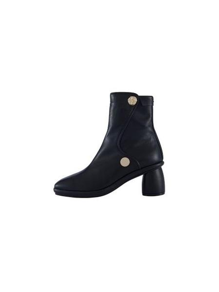 Reike Nen Curved Middle Ankle Boots - Black