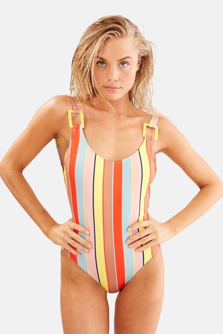 Solid and Striped The Stella Cabana One Piece - Stripe