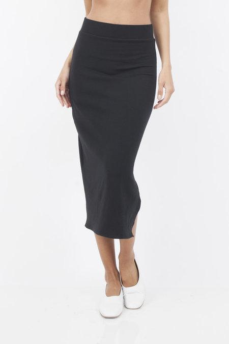 Corinne Collection Side Slit Skirt - black