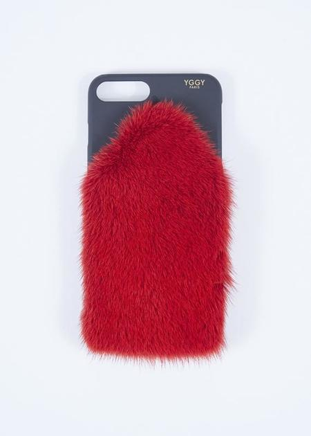 YGGY Mink iPhone X Case - red