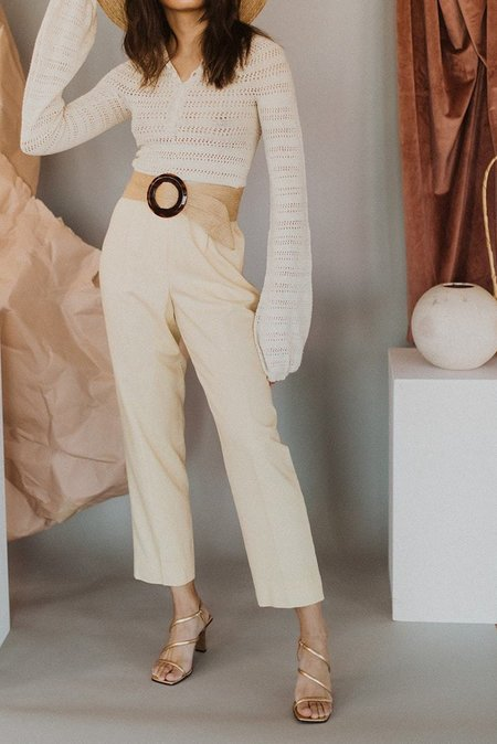 Dear Society Vintage Trousers - Pale Yellow