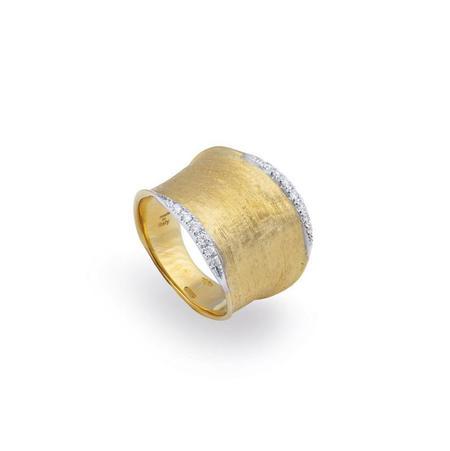 Marco Bicego Lunaria Collection Diamond Pave Medium Ring - 18K Yellow Gold