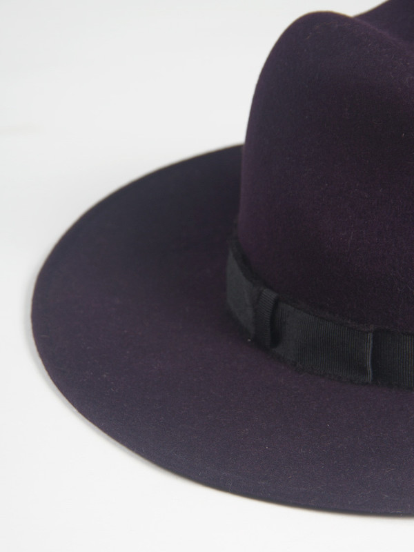 Yestadt Millinery Peaks Hat Purple