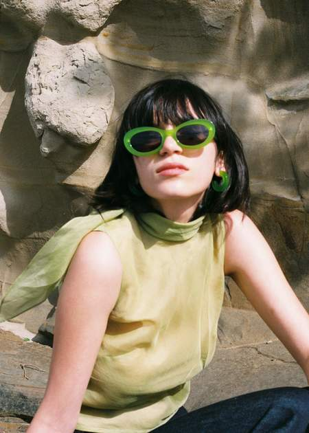 Auor Paloma Sunglasses - Celery