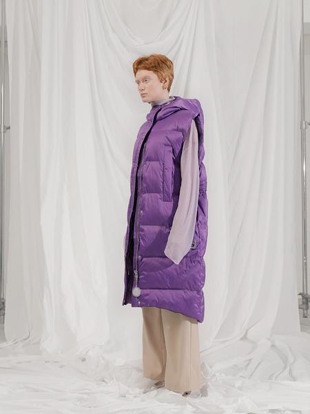 101MOON Long Padding Vest - Purple