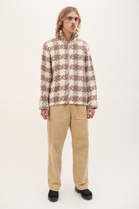 Our Legacy Whole Zip Funnel Shirt - Borrowed Check