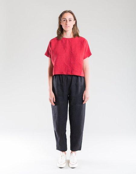 Shelter Marie Linen Pant - Black