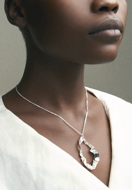 BY NYE Form Necklace - Silver