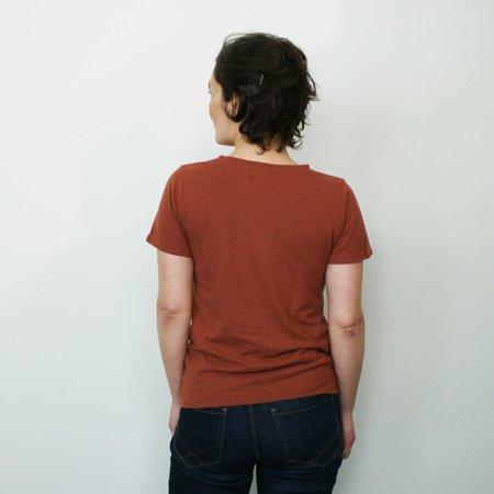Jungmaven Lorel Crew T Shirt - Terracotta