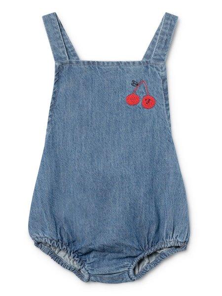 KIDS Bobo Choses Cherry Baby Romper - Denim