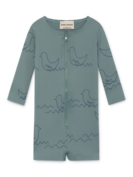 KIDS Bobo Choses Geese Baby Swim Overall - Mint