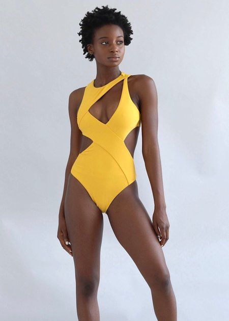 Andrea Iyamah Enzo Swimsuit - YELLOW