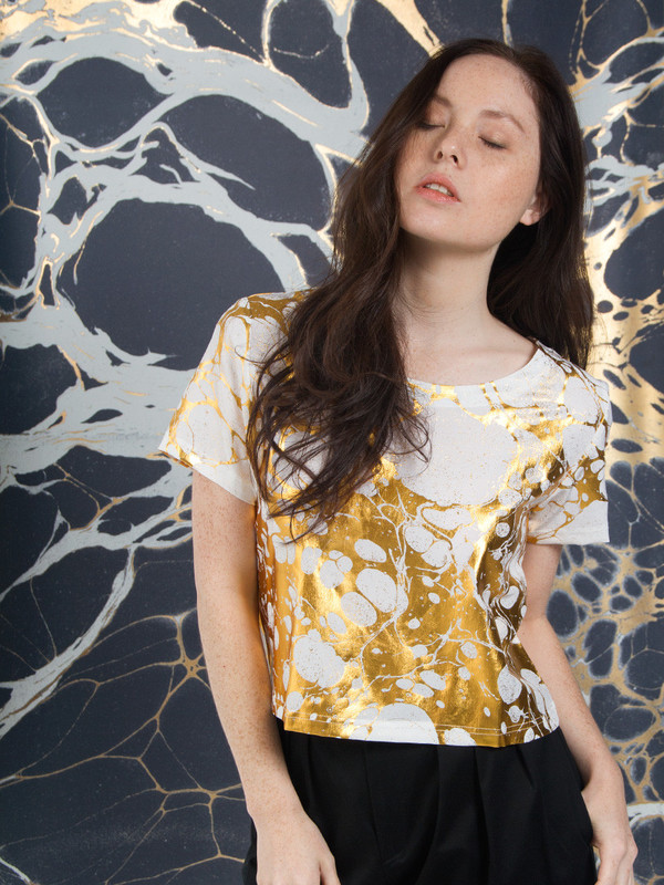 Calico x Swords-Smith x Print All Over Me Wabi Silk Tee