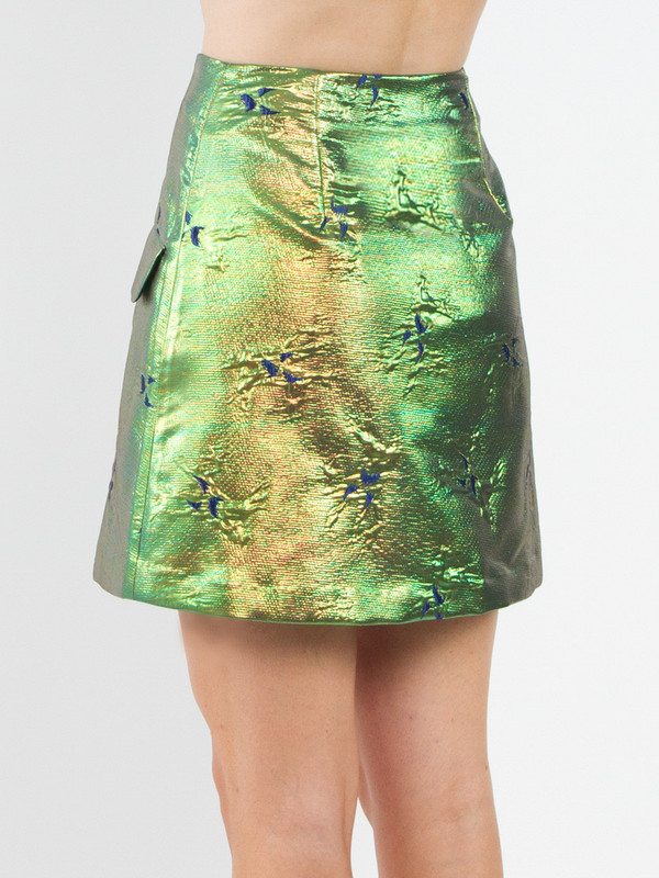 Risto Zip Front Mini Skirt