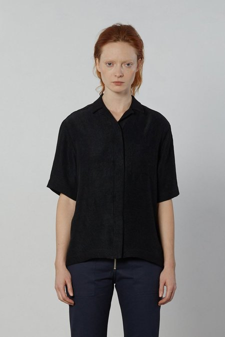 Nomia Short Sleeve Hidden Packet Shirt - Black