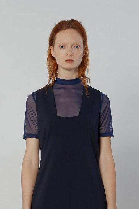 Nomia Short Sleeve Mesh Turtleneck - Marine
