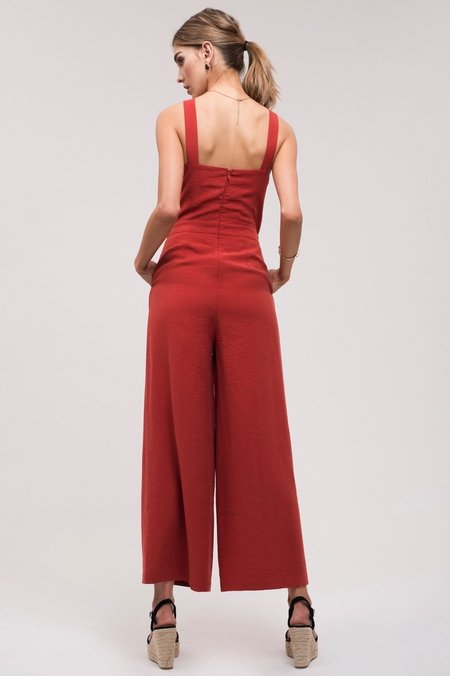 J.O.A. At The Heart Of It All Jumpsuit - Rust