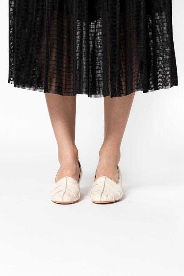 Maryam Nassir Zadeh Isa Stitched Heel - ivory patent