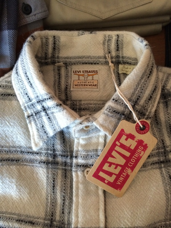 Men's Levi's Vintage Clothing 1950s Wool Longhorn Shirt in Ecru