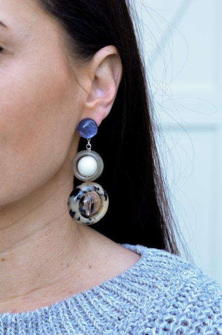 Rachel Comey Ladybird Earrings - Dalmatian