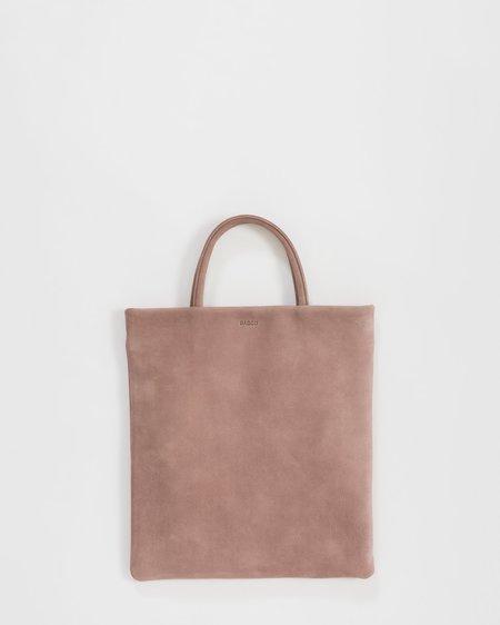 Baggu Mini Leather Flat Tote - Taro Nubuck