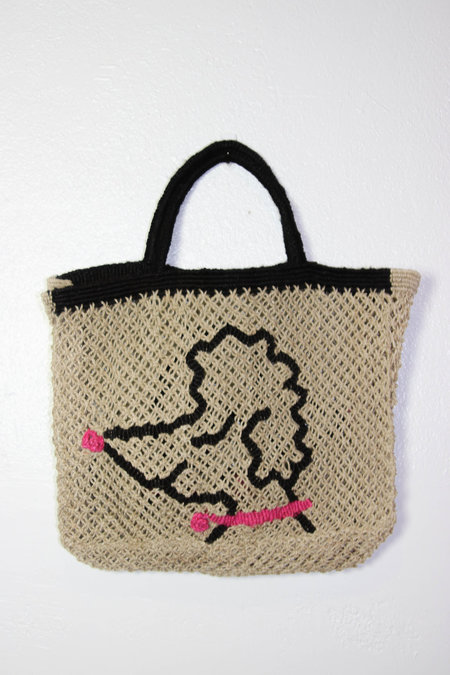 The Jacksons Hot Dog Jute - Jean poodle