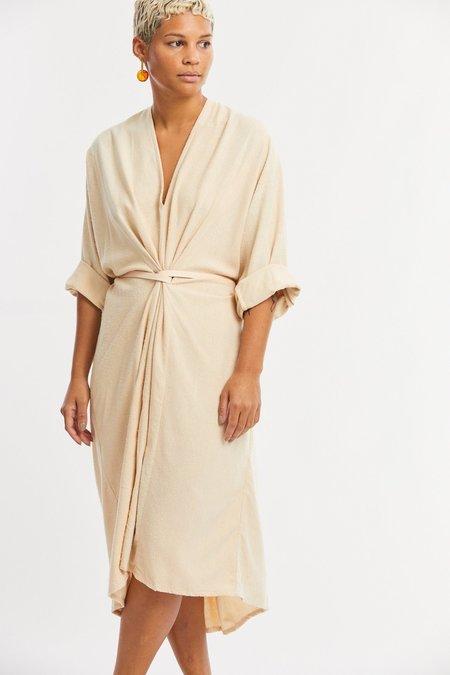Miranda Bennett Silk Noil O'Keeffe Dress - Lucien