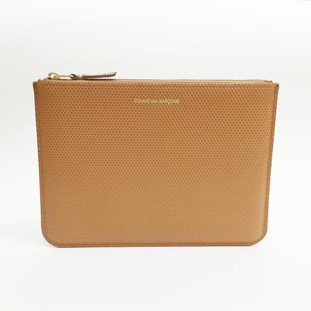 Comme des Garcons - Luxury Group Large Beige Zip-up Pouch