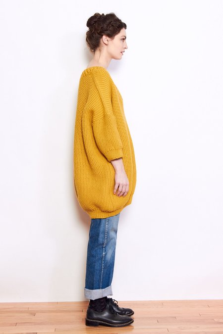 Mr. Mittens Jacqueline Wool Sweater - Mustard