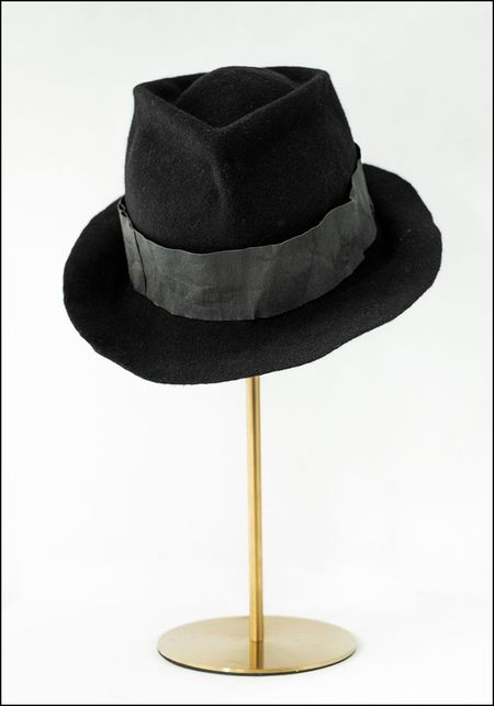 Claudia Schulz Hand Formed Fedora - BLACK
