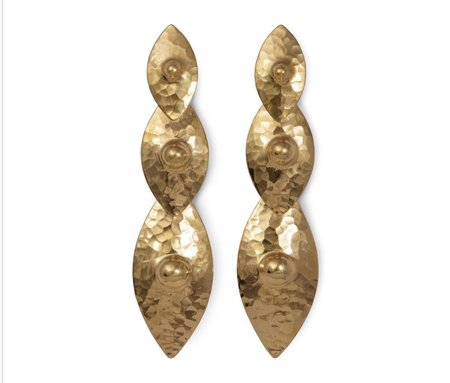Elppin Triple Nipple Drop Earring - Gold