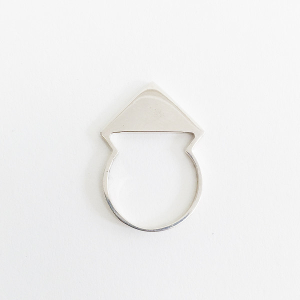 Twenty Two Hours Deco Ring - Silver