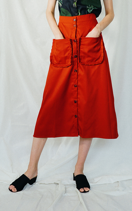 ENSEMBLE THE LABEL DALIA SKIRT - terracotta